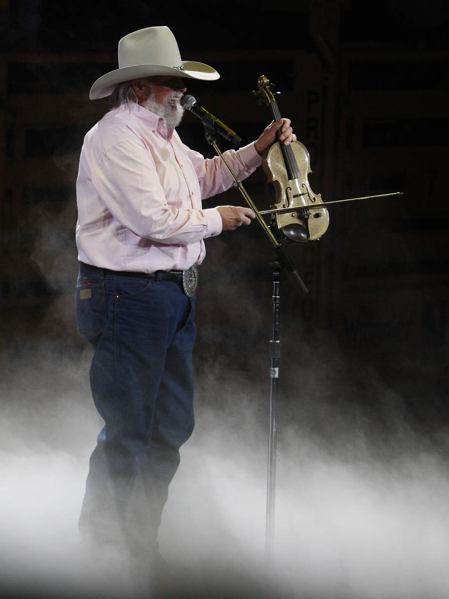 Charlie Daniels performance during round 7 of the 2010 Wranglers National Finals Rodeo at the T ...