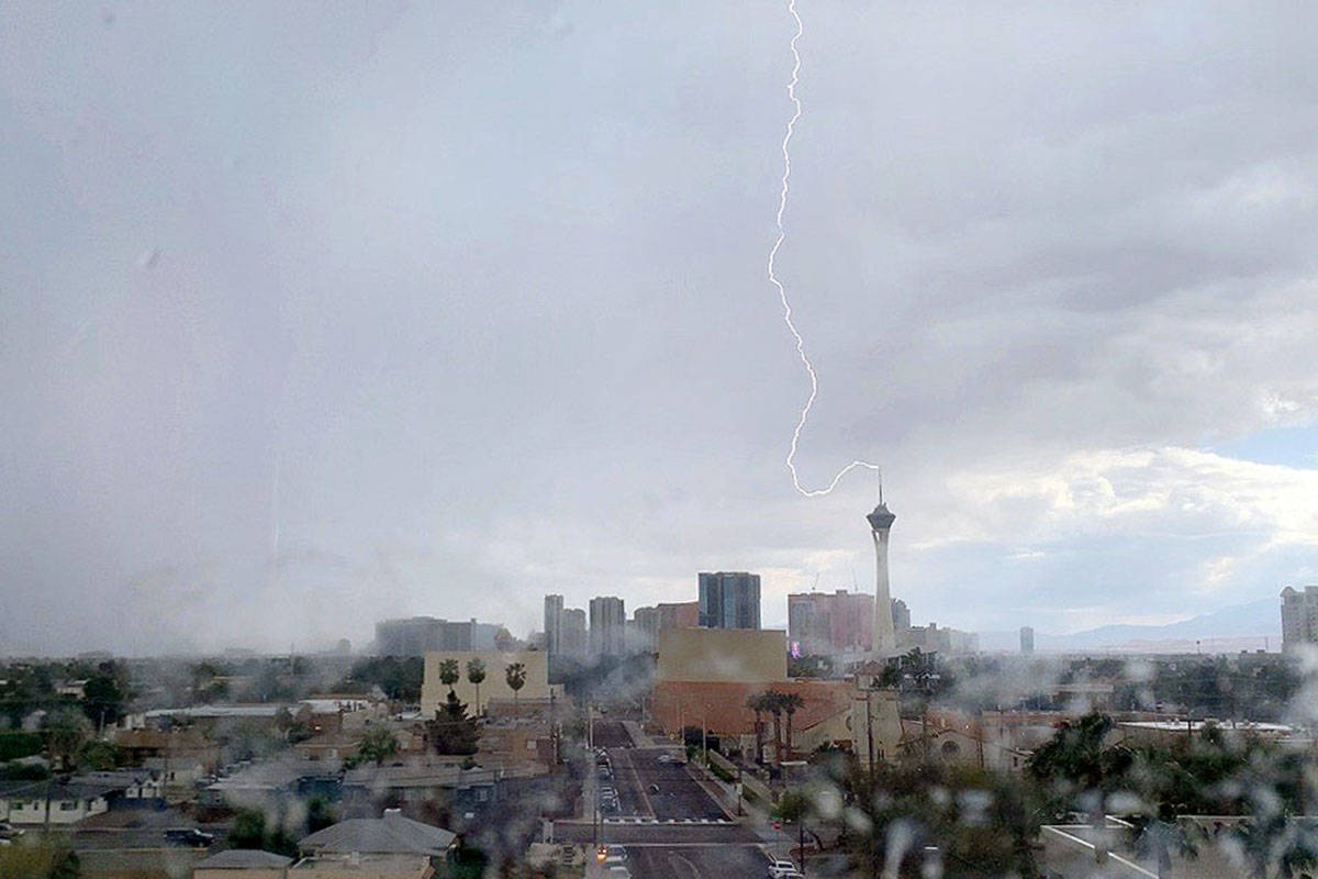 Higher elevations in and around the Las Vegas Valley could see thunderstorms on Tuesday, July 2 ...