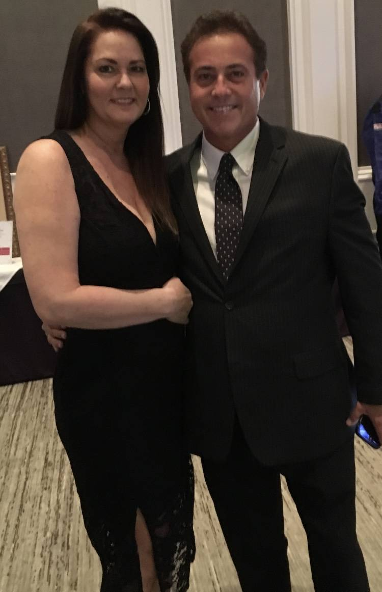 Ricki and Bart Torres are shown as he received his Nevada Broadcasting Hall of Fame honor on Se ...