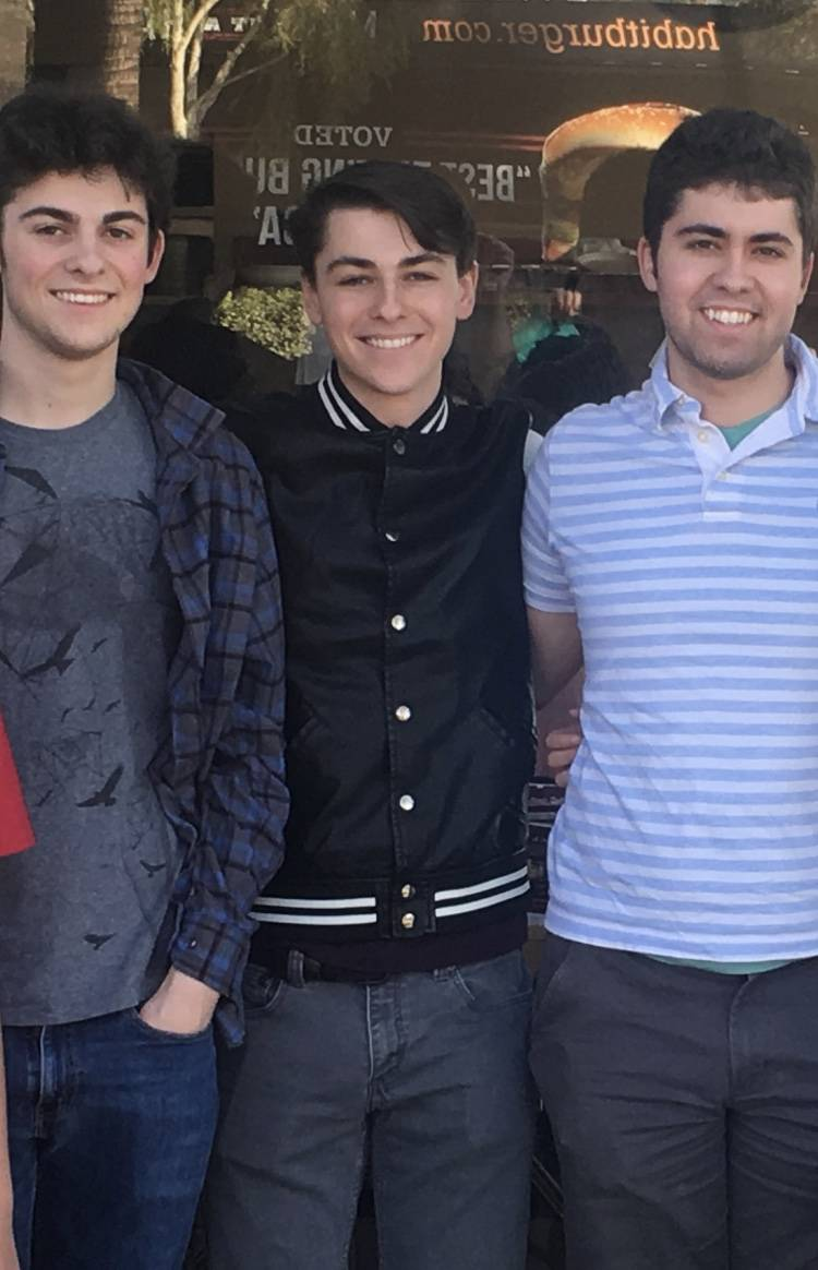 Bart Torres's three sons, from left: Cameron, Cole and Conner. (Ricki Torres)