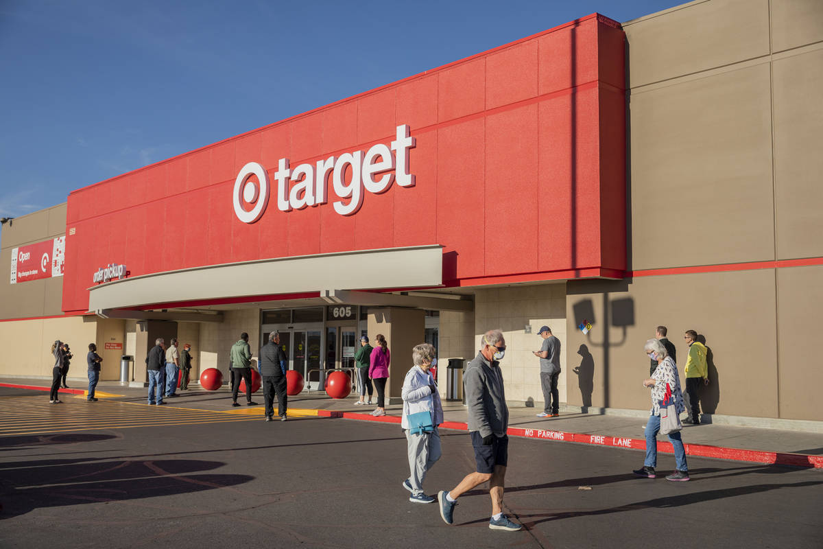 Target is launching same-day grocery pickup. (Elizabeth Page Brumley/Las Vegas Review-Journal) ...