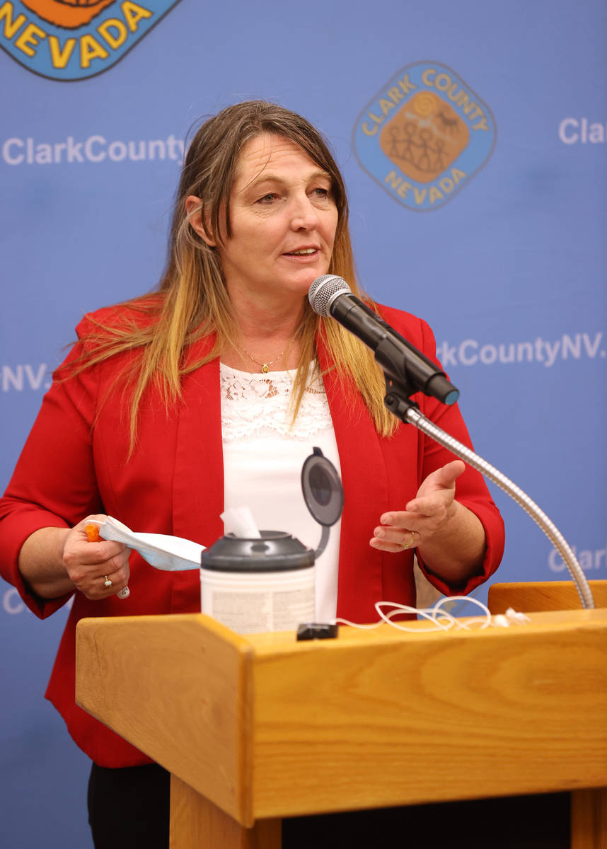 Clark County Commission Chairman Marilyn Kirkpatrick updates plans to increase contact tracing ...