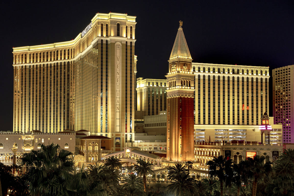 Venetian en 2019. (L.E. Baskow/Las Vegas Review-Journal) @Left_Eye_Images