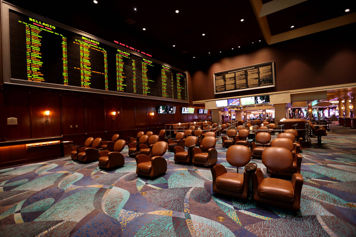 The sportsbook at the Bellagio on Monday, June 1, 2020. (K.M. Cannon/Las Vegas Review-Journal) ...