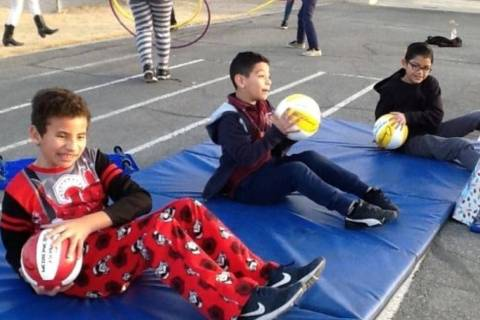 Students in Stephanie Graville's PE class get some exercise at Ronnow Elementary School. (courtesy)