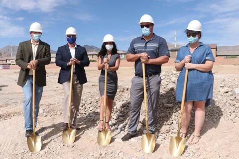 Edward Homes broke ground on a two-story town home development, Brownstones. It is the last new ...