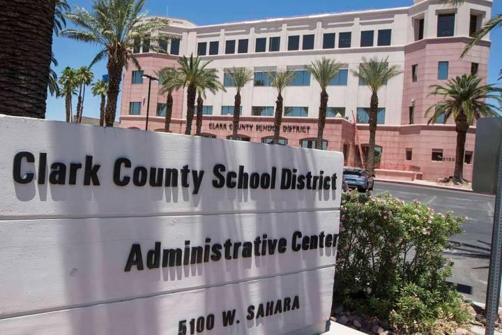 Clark County School District administration building in Las Vegas. (Richard Brian/Las Vegas Rev ...