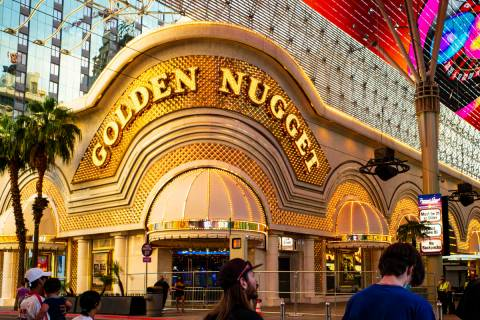 The Golden Nugget is shown on Wednesday, June 3, 2020. Its sportsbook will reopen at 11 a.m. Th ...