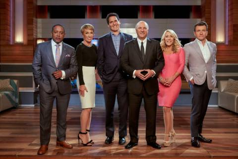 Daymond John, Barbara Corcoran, Mark Cuban, Kevin O'Leary, Lori Greiner and Robert Herjavec are ...
