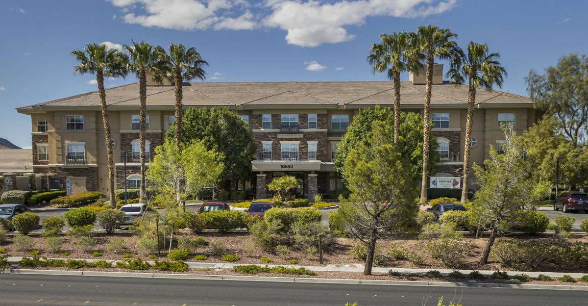 The Heights of Summerlin exterior where there have been numerous deaths there due to Covid-19 o ...