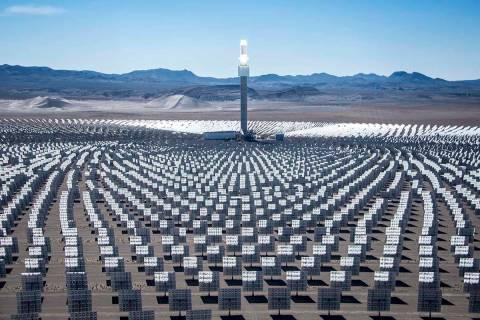 Crescent Dunes solar plant near Tonopah (Las Vegas Review-Journal)
