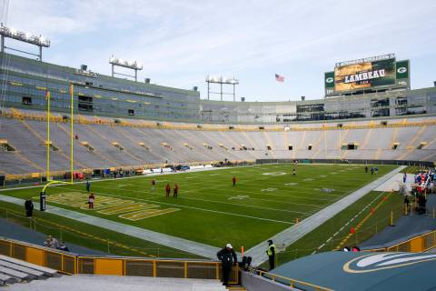 Lambeau Field is seen an NFL football game between the Green Bay Packers and the Washington Red ...