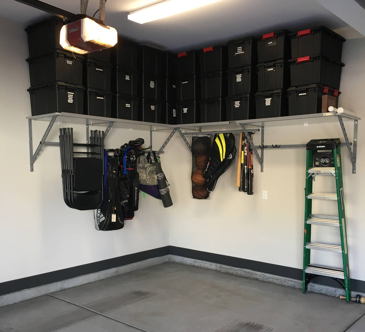 Garage shelves are the perfect way to utilize the vertical space of garage walls and keep summe ...