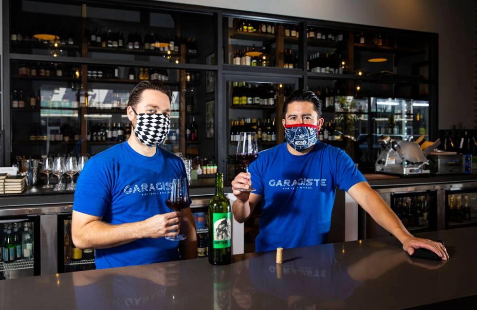 Eric Prato, left, and Mario Enriquez, founders of Garagiste Wine Room & Merchant in the Arts Di ...