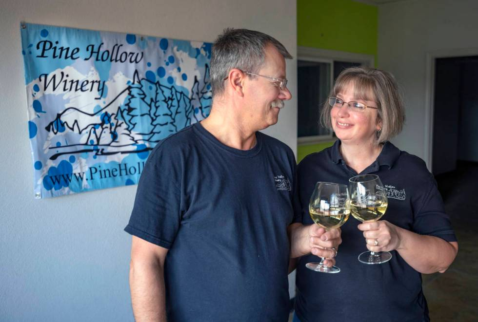 Owners John and Barbara DiVirgilio at the future home of Pine Hollow Winery in Las Vegas. (Eliz ...