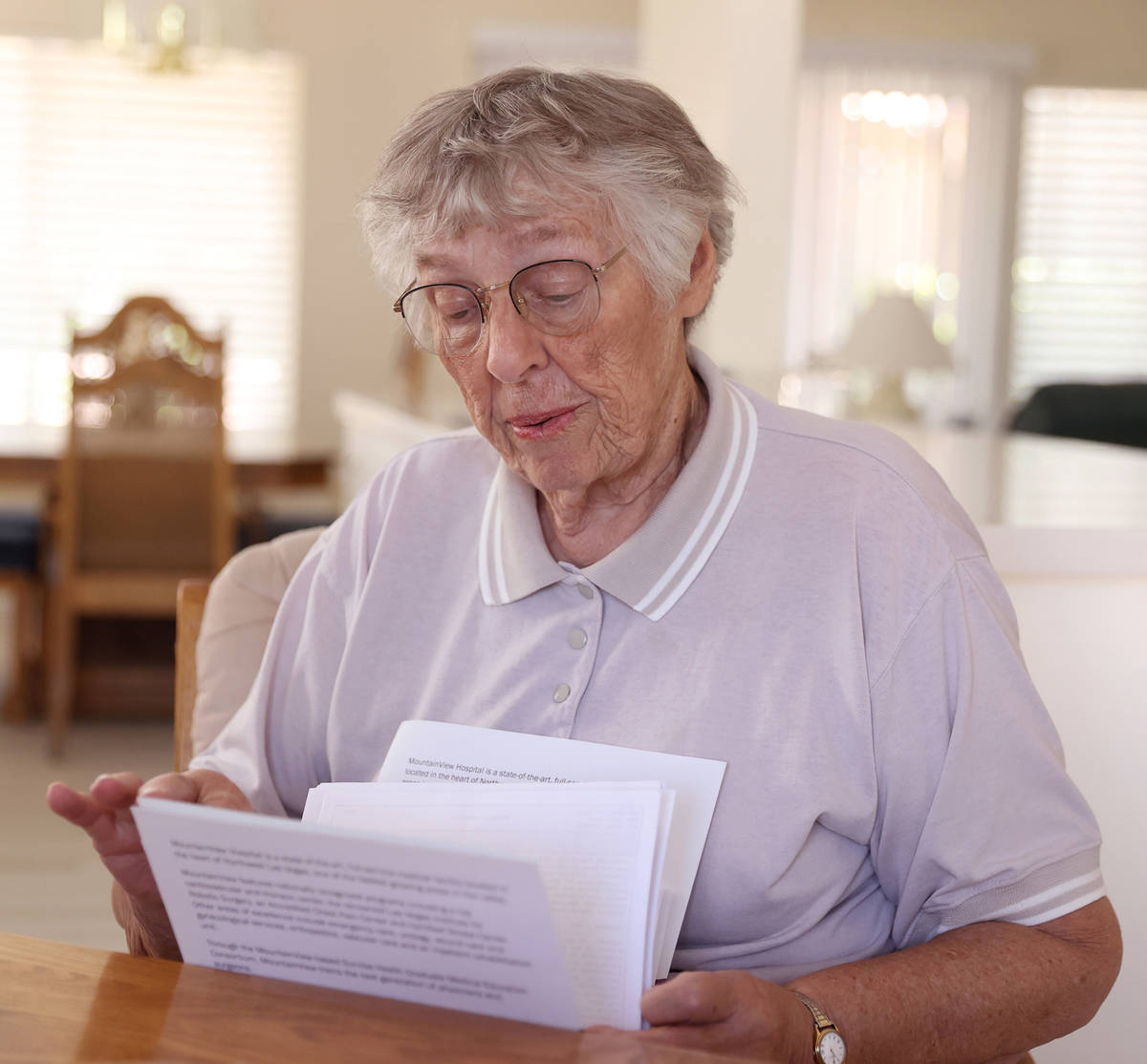 Marilyn Pekrul, 85, at her home in Las Vegas, Thursday, July 23, 2020. Pekrul was a patient at ...
