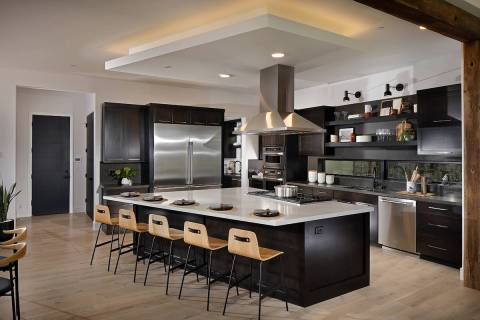 Built by Pardee Homes, the Sandalwood Plan Two kitchen was designed by PCBC Gold Nugget Interio ...