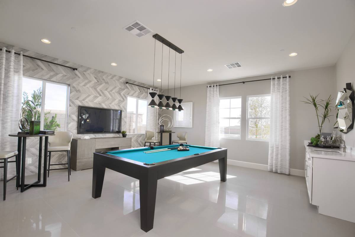 Richmond American luxury homes include space for entertainment. (Richmond American)