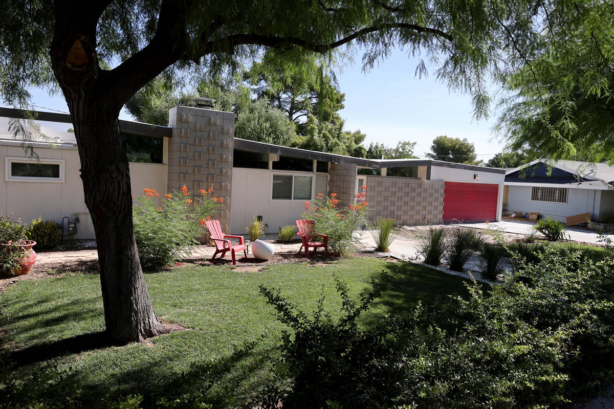 A home at 2082 Ottawa Drive in the Paradise Palms neighborhood in Las Vegas Thursday, July 30, ...