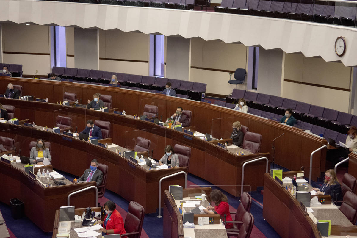 The Assemblt chamber is seen Friday, July 31, 2020 during the first day of the 32nd Special Ses ...