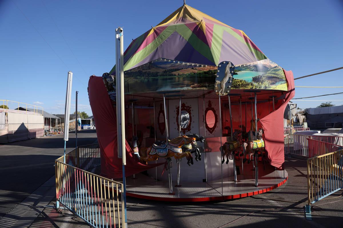 Carnival rides remain closed during the coronavirus pandemic at Broadacres Marketplace in North ...