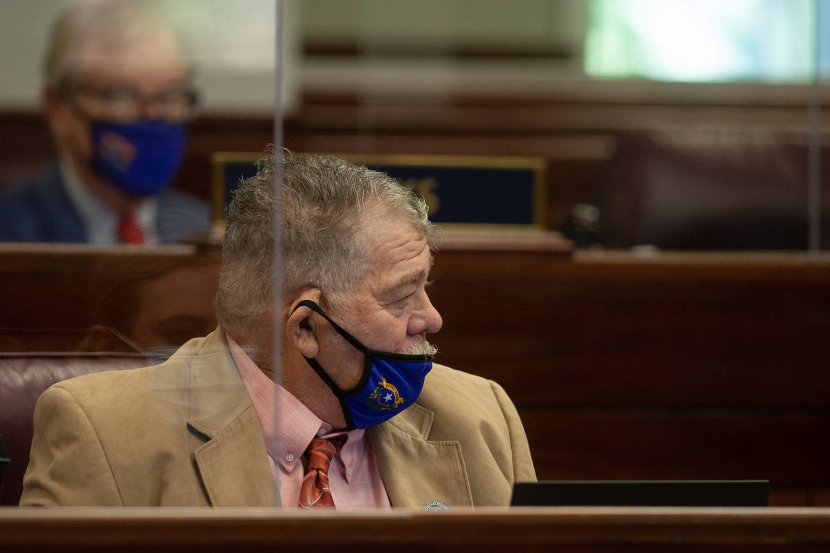 State Senator Pete Goicoechea on Wednesday, Aug. 5, 2020 during the sixth day of the 32nd Speci ...