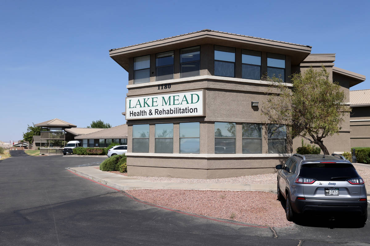 Lake Mead Health and Rehabilitation Center skilled nursing home in Henderson Wednesday, Aug. 5, ...