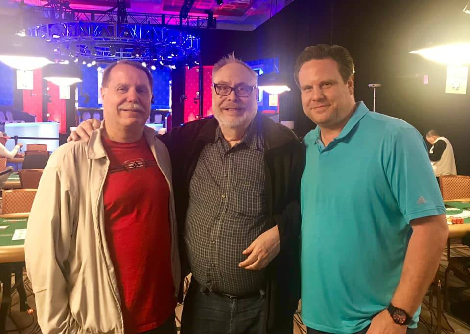 Rod Pardey Sr., center, with brother Dave, left, and son Rod Jr. at the World Series of Poker a ...