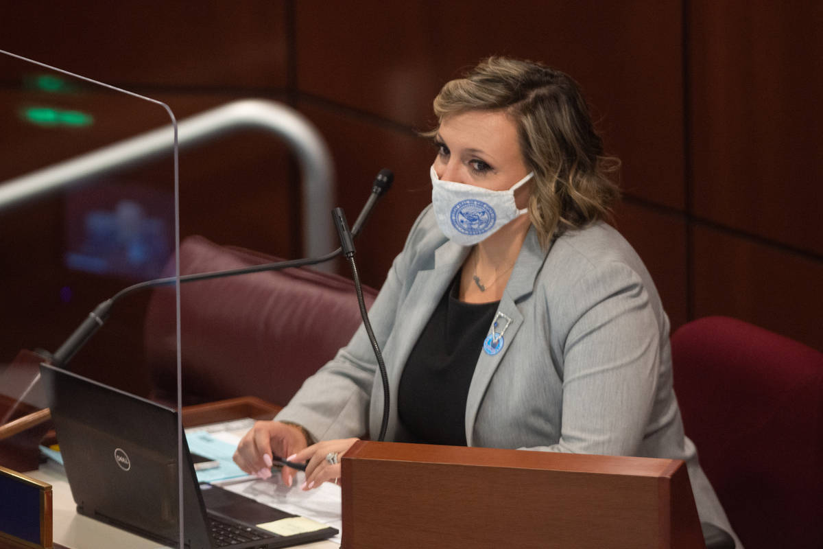 State Senate Majority Leader Nicole Cannizzaro on Friday, July 31, 2020 during the first day of ...