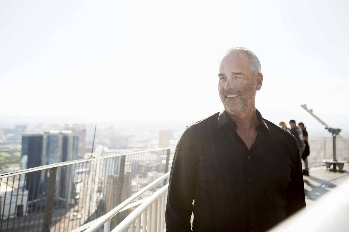 Golden Entertainment Chairman and CEO Blake Sartini is seen in 2017 in Las Vegas on top of the ...