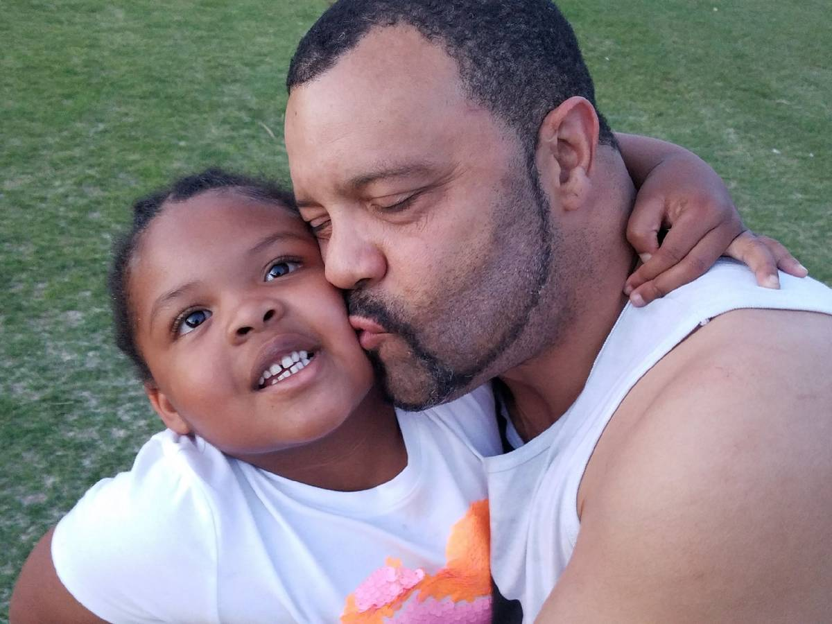 Timothy Hanson with youngest daughter, Alana, 6. (Tai Hanson)
