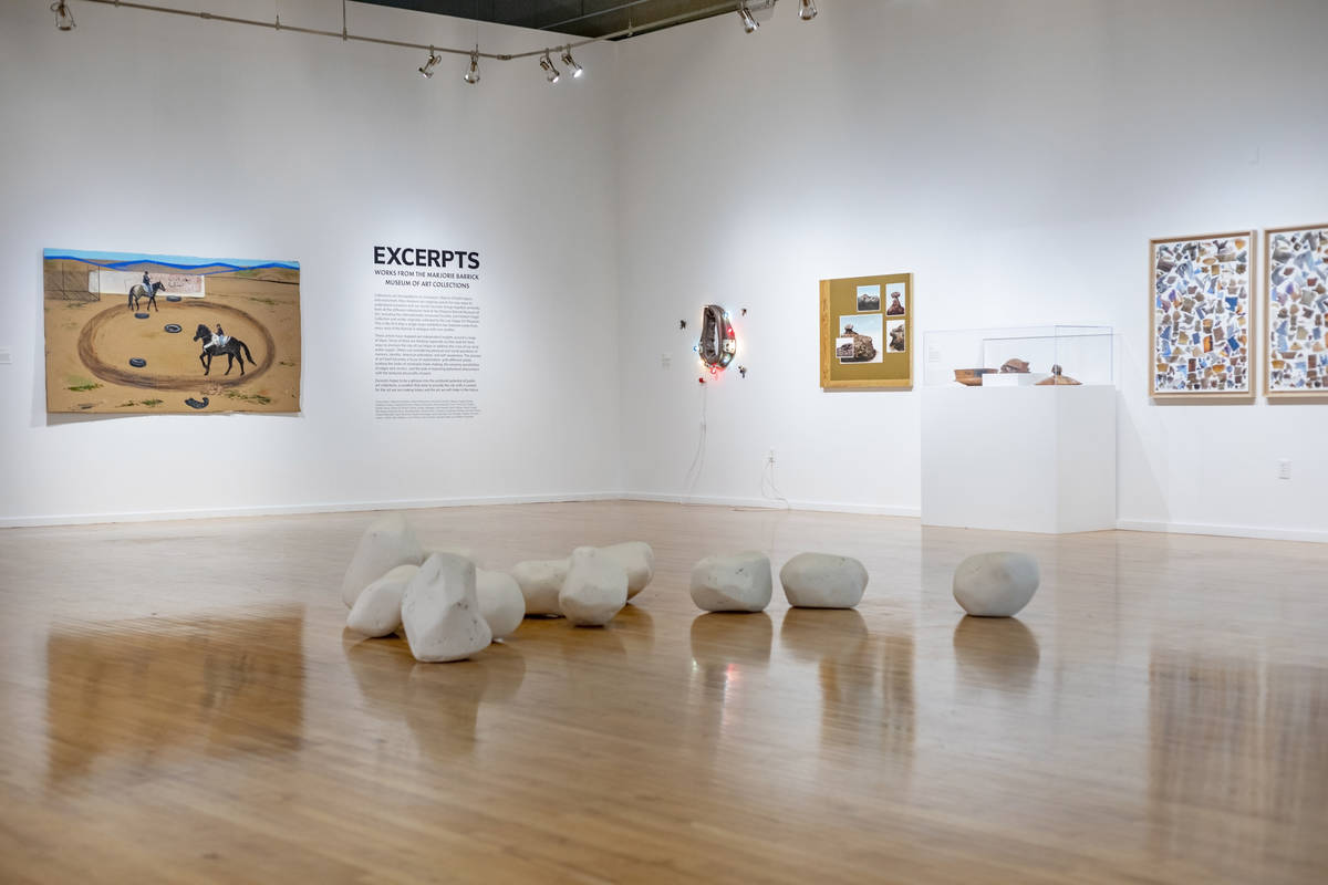"""Collections from the exhibit """"Excerpts"""" are seen at UNLV's Marjorie Barrick Museum in Las Vegas ..."""
