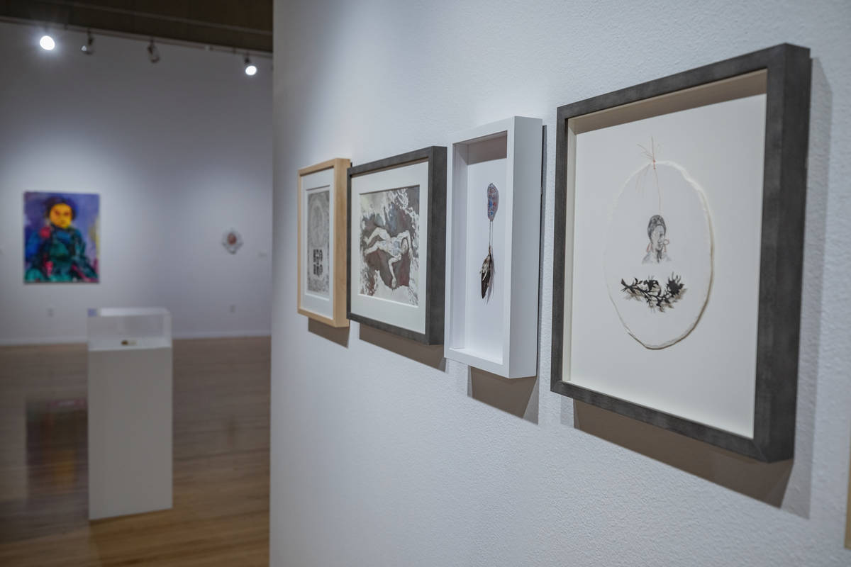 """Pieces from Candice Lin are featured in the exhibit """"Excerpts"""" at UNLV's Marjorie Barrick Museu ..."""