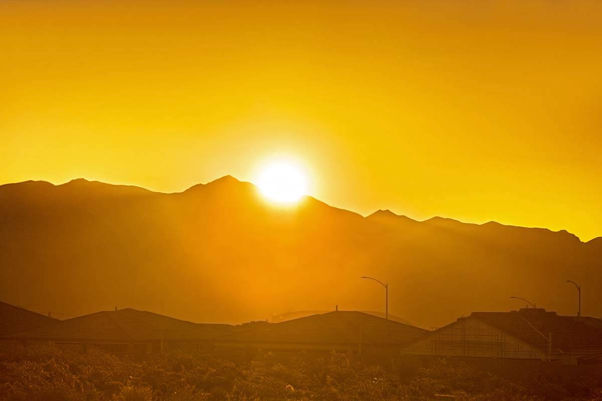 Sunshine is expected all week in the Las Vegas Valley. A high temperature of 106 is forecast fo ...