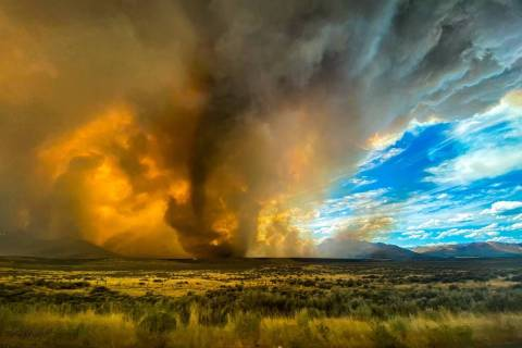 A tornado touched down in the Loyalton Fire, on the Nevada-California border. (courtesy KateLyn ...