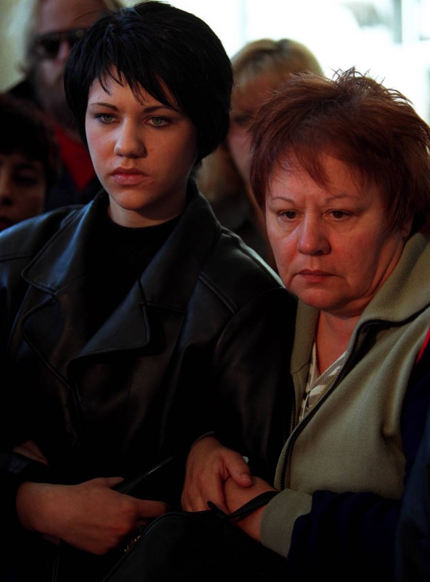 Tanya Vece, left, and her mother Helena react to the Jessica Williams verdict outside the cour ...