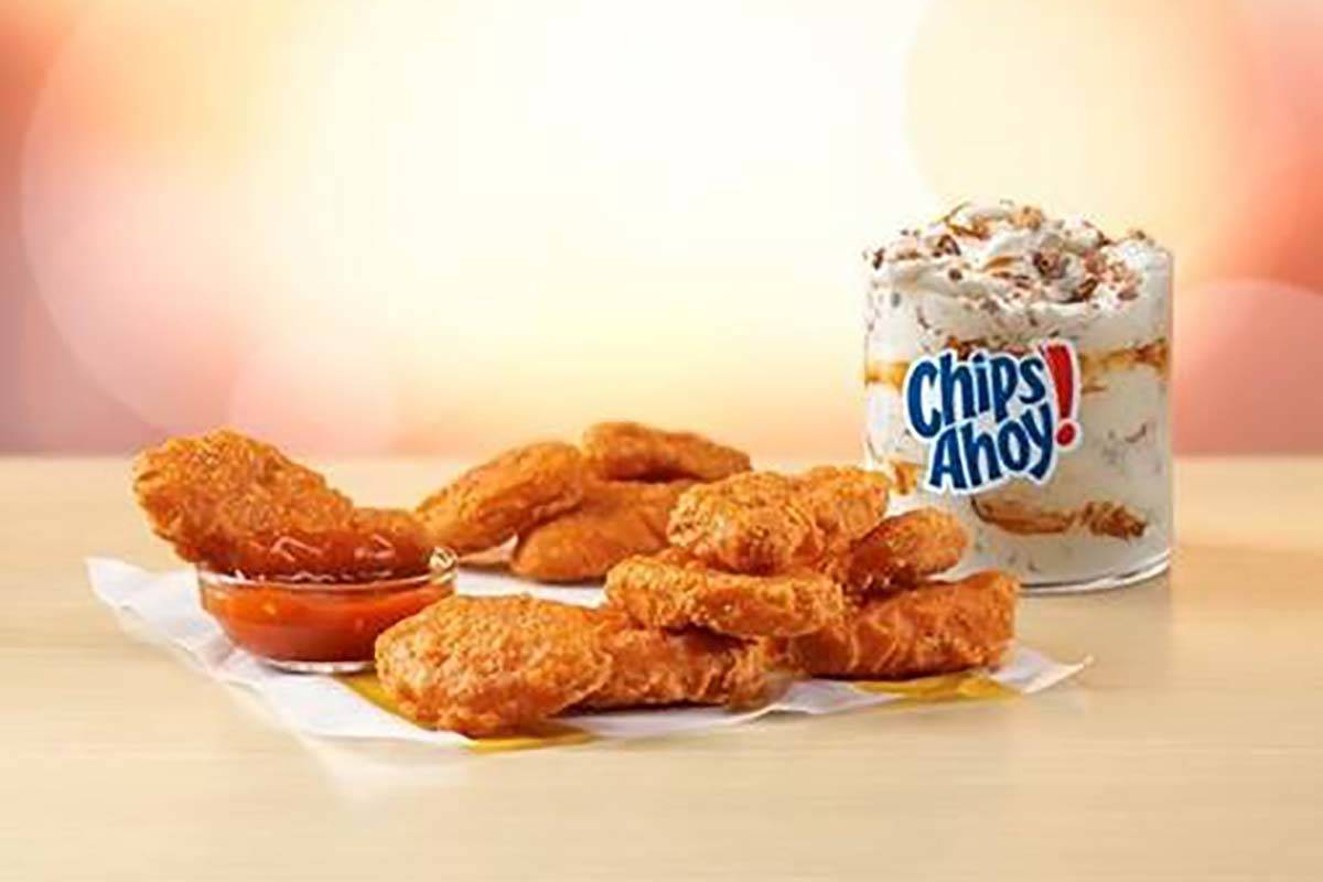 Spicy Chicken McNuggets are scheduled to arrive in September along with the Chips Ahoy McFlurry ...