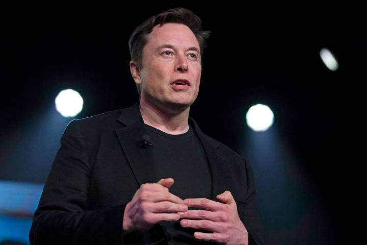 FILE - In this March 14, 2019, file photo, Tesla CEO Elon Musk speaks before unveiling the Mode ...