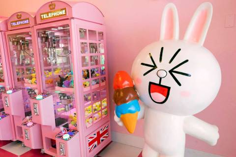 Pink Wa Wa, a new arcade in Las Vegas, is filled with plush toys and games to win them. (Elizab ...