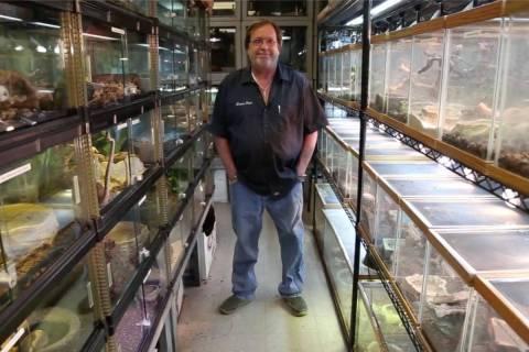 Ken Foose poses inside his store in 2016. (Rachel Aston/Las Vegas Review-Journal)