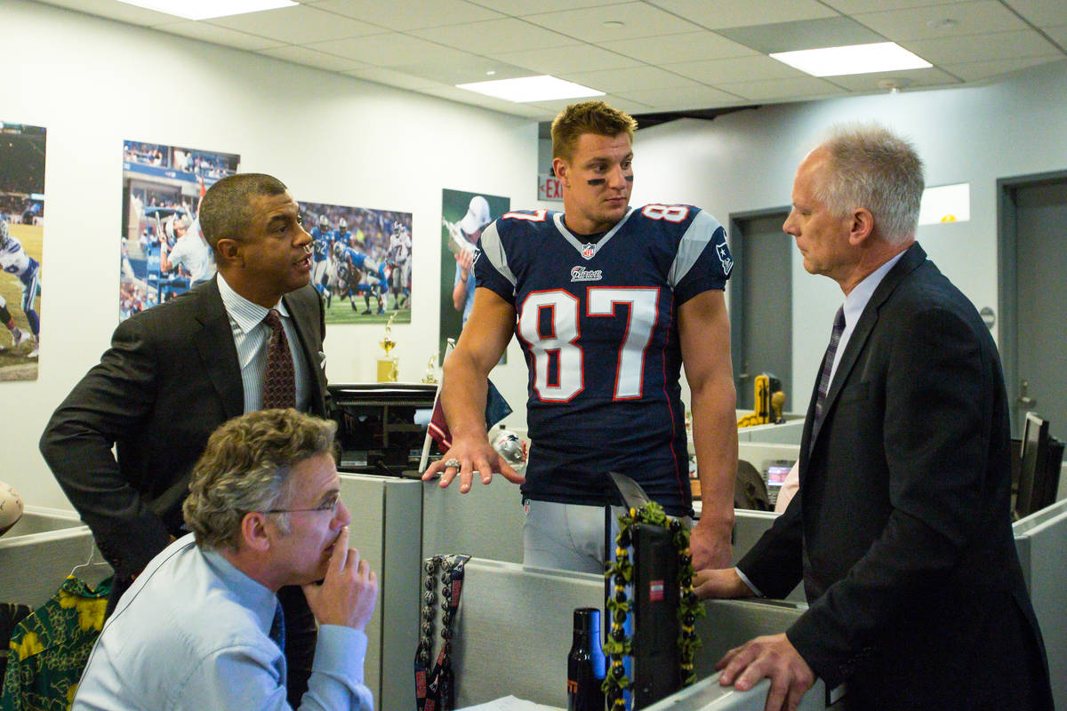 Rob Gronkowski, Neil Everett, Stan Verrett and Kenny Mayne during a This is SportsCenter Campai ...