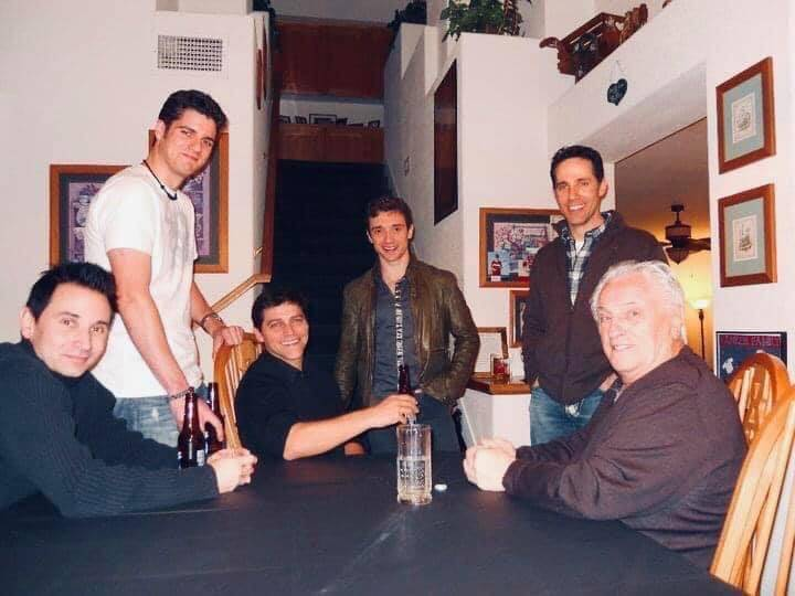 """Four Seasons legend Tommy DeVito, far right, is shown in 2010 with """"Jersey Boys"""" cast membe ..."""