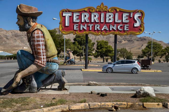 Entrance to the Terrible's Hotel & Casino still temporarily closed on Friday, Sept. 4, 2020 ...