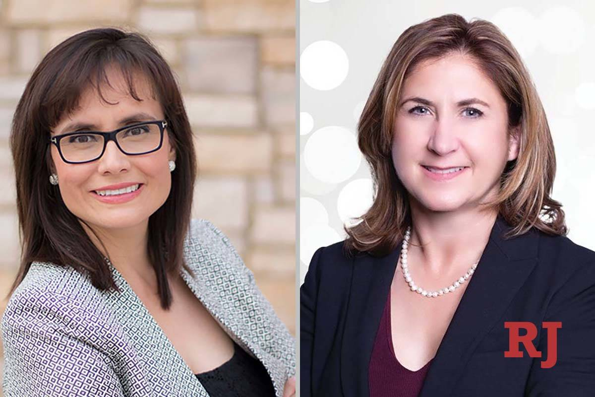 Adriana Rincon White, left, and Stacy Michelle Rocheleau, candidates for Family Court Departmen ...