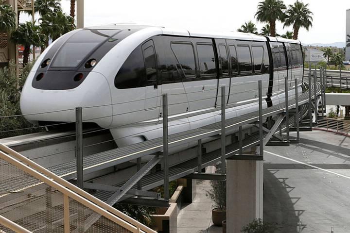 The Las Vegas Monorail (Bizuayehu Tesfaye/Las Vegas Review-Journal)