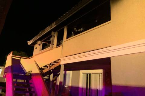 Firefighters had an apartment fire under control in less than 10 minutes at 1915 Simmons St., i ...