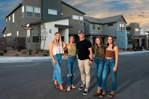 Pardee Homes welcomes the Strehlow family, from left, Abbey, Jill, Robby, Tori and Rylee, as th ...