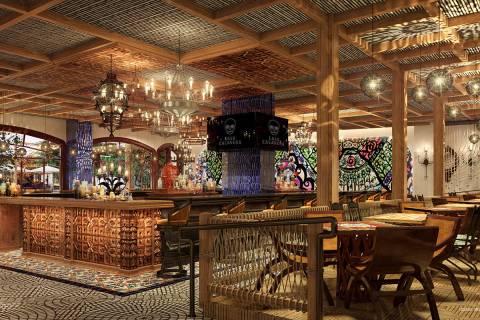 Rendering of Casa Calavera at Virgin Hotels in Las Vegas. (Hakkasan Group)