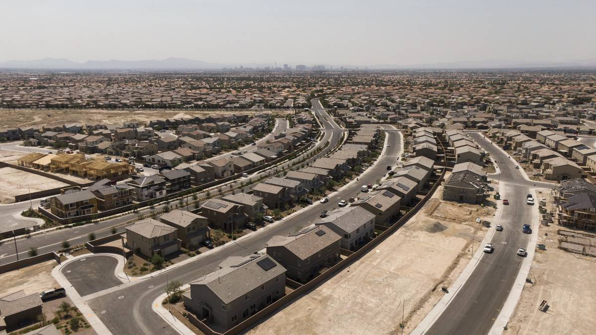 An aerial view of housing developments near West Dorrell Lane and Gliding Eagle Street in North ...