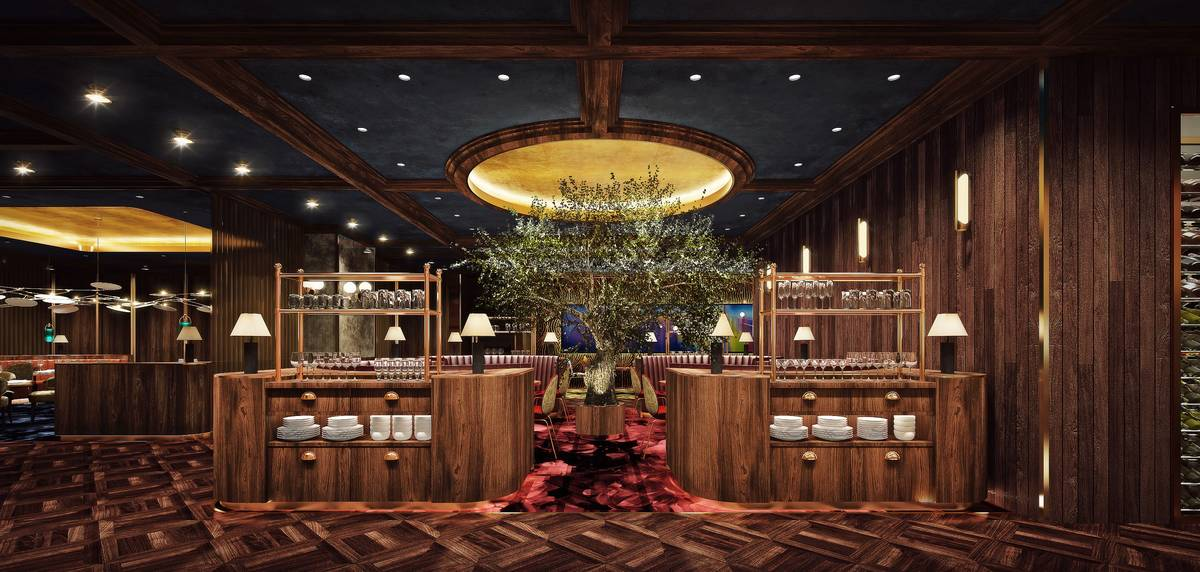 The Garden Room, a semi-private dining room at Barry's. (Circa Resort & Casino)